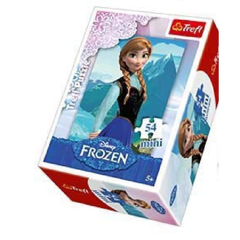 En lille puslespil med motiv fra fra Disney filmen  Frost/Frozen