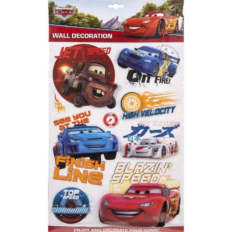Flotte motiver fra Disney filmen Cars til dekorere dit værelse med.