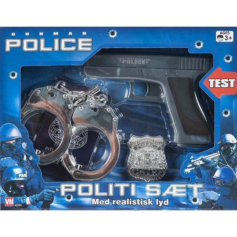 En super s�t hvis du skal v�re politibetjent b�de i leg  eller til fastelavn.