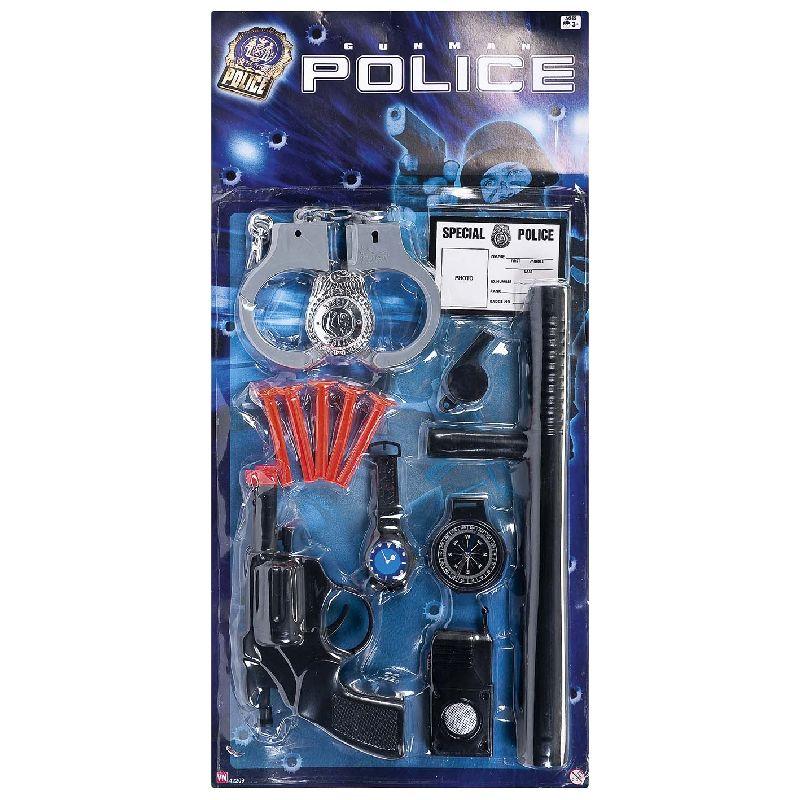 N�r man skal v�re politi, om det er i leg eller til fastelavn, er det n�dvendige med en masse tilbeh�r, i denne s�t f�r du alt det du skal bruge