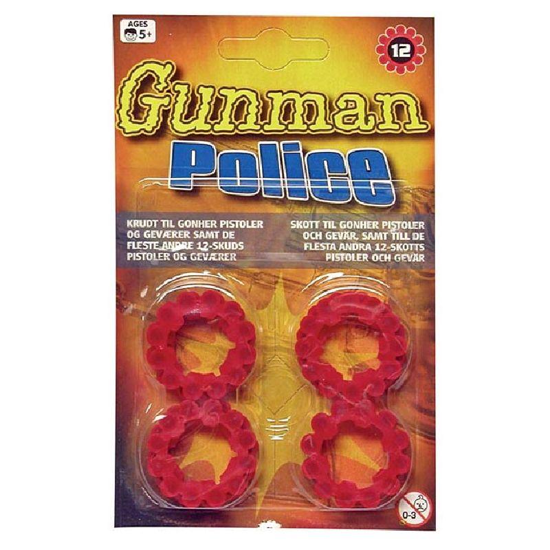 Passer til pistoler der bruger 12 skuds krudt-