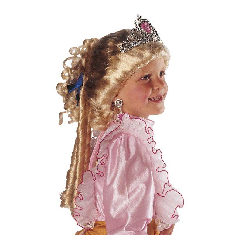 En rigtig prinsesse har et flot h�r, denne paryk giver dig flotte slanger kr�ller
