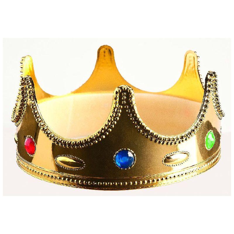 Guldkrone m. juvel i forskellige farver