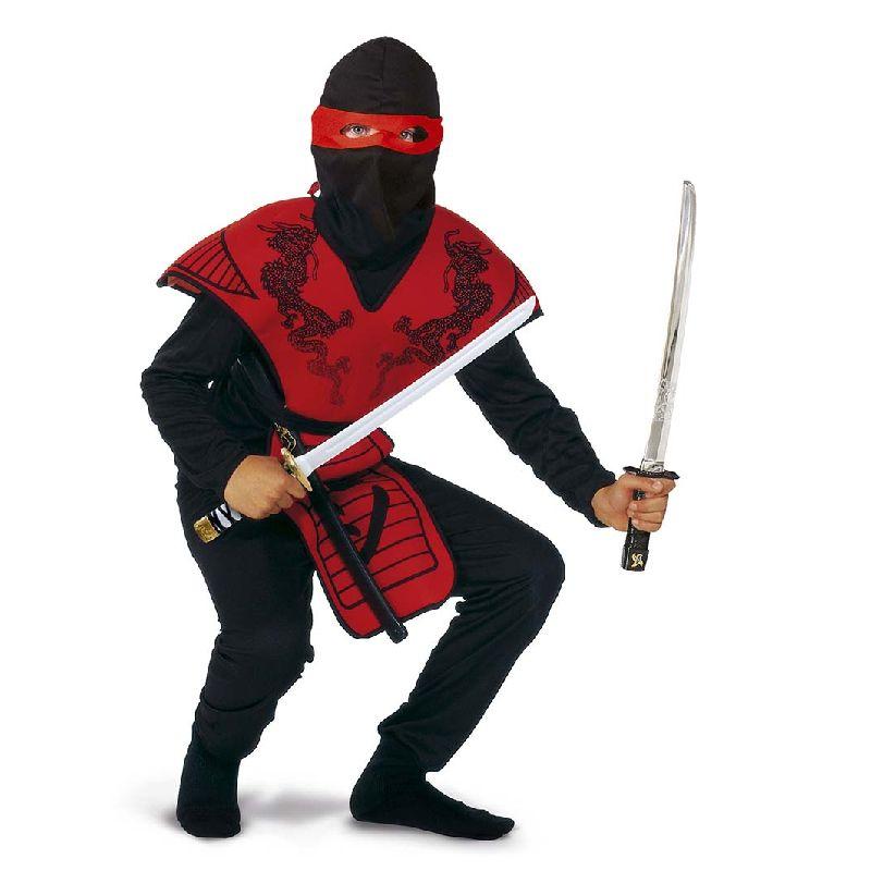Nu er du klar til drabelig kamp. Leg skurk, bandit eller  helt som Ninjakriger med dine venner eller kl�d dig ud  til Fastelavn. De viste v�ben er ikke inkluderet.