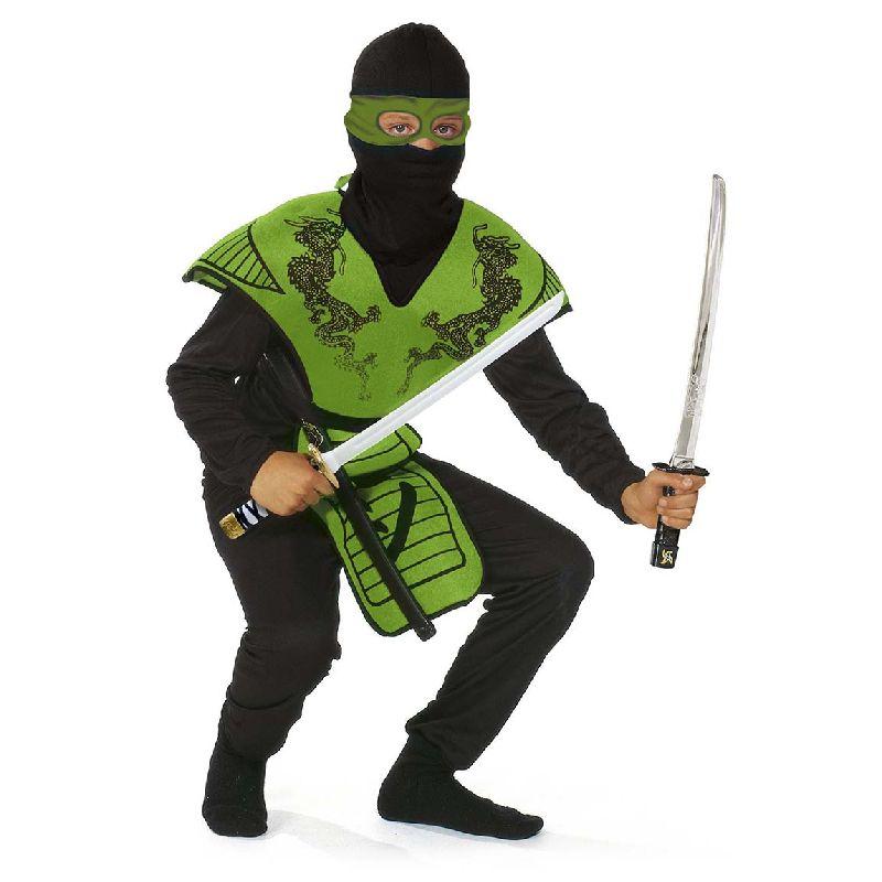 Ninja dragt i gr�n.Kan bruges til udkl�dning. Kl�de sig  ud som en gr�n ninja. K�mpe mod andre ninja. Ninja  sv�rderne medf�lger IKKE.Kan k�bes seperart .