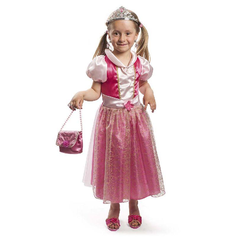 Skal du v�re prinsesse er denne fine lyser�de kjole lige  sagen, med den bliver du lige s� flot som Tornerose.
