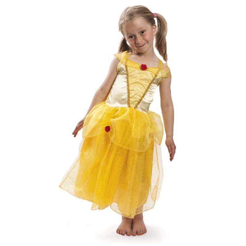 Skal du lege prinsesse i et eventyr som f.eks. Belle  fra Sk�nheden og Udyret, eller have udkl�dningsdag med  dine veninder, er denne flotte, gule kjole noget for  dig.
