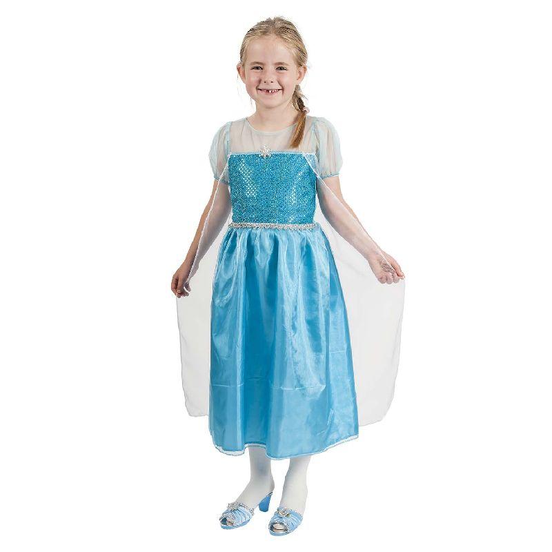 Bl� prinsesse kjole der kan bruges til leg som  Frozen/Frost