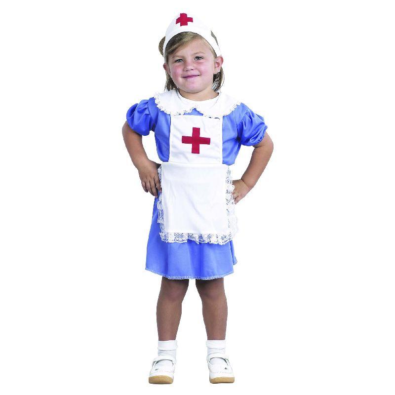 N�r dine dukker og bamser bliver syge, kan du tage dig  godt af dem i den yndige sygeplejerskeuniform. Du kan  ogs� bruge den til Fastelavn.