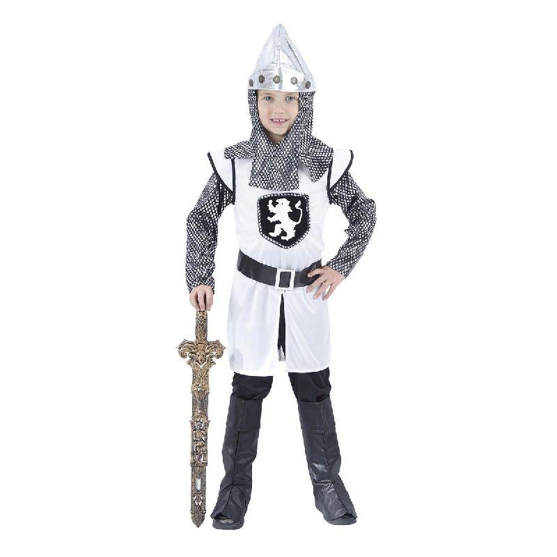 Den hvide ridder er den gode ridder i mange fort�llinger.<br> S� med denne dragt er du klar til fastelavn eller en masse timers ridder leg