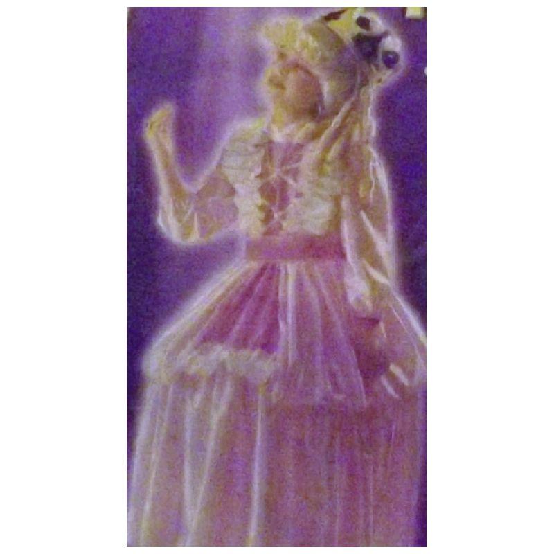 Prinsessekjole med strutsk�rte. Prinsessekjole i lyser�de  farver.Kan bruges til udkl�dning til fastelavn. Leg prinsesse  med vennerne. Ved bestilling skriv gerne str i  kommentarfeltet. Str 140 eller 160 cm