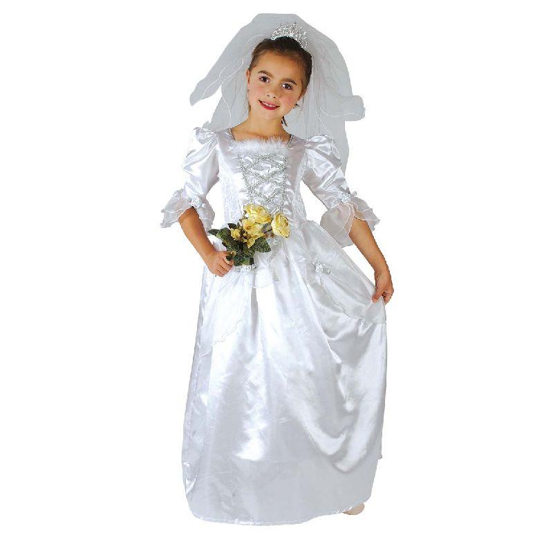 Bliv kl�dt ud som en smuk brudepige til fastelavn eller brug kjolen til at lege fin dame med. NB. 120 cm er uden sl�r