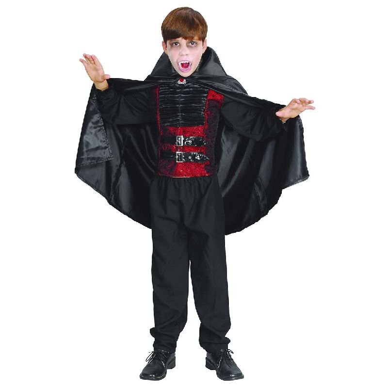 Skal du v�re drakula eller vampyr er her lige kappen for dig.<br> Kan bruges til b�de leg, fastelavn og halloween.