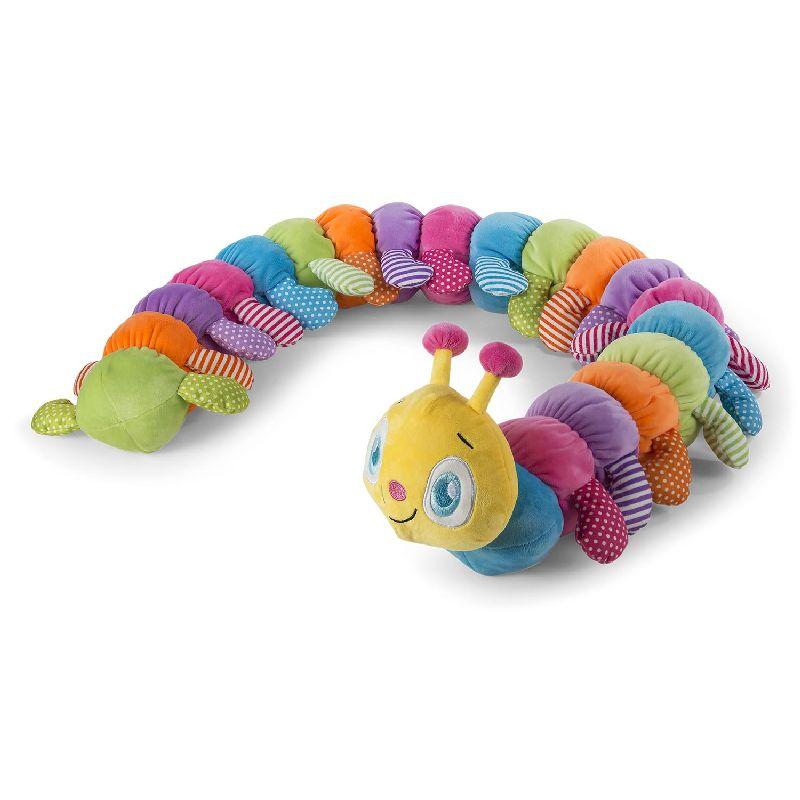 Bamse som tusindben. Bamse med mange farver. Store søde  øjne. Kan bruges til leg eller sove med.