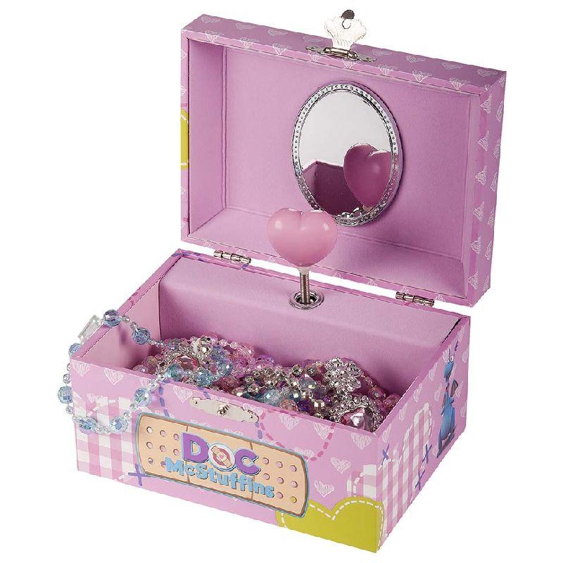 Det flotte Disney Junior smykkeskrin spiller musik, når du trækker det op. God til mindre børn. Måler 15x11,5 cm. Smykker er ikke inkluderet.