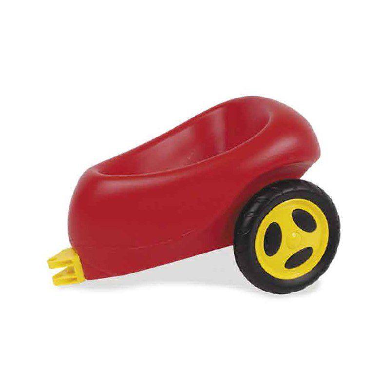 Anhænger med gummihjul til scooter. Passer til Dantoys  køretøj. Sæt den bag på. Put ting i vognen. Kan bruges til leg  i haven eller vejen.