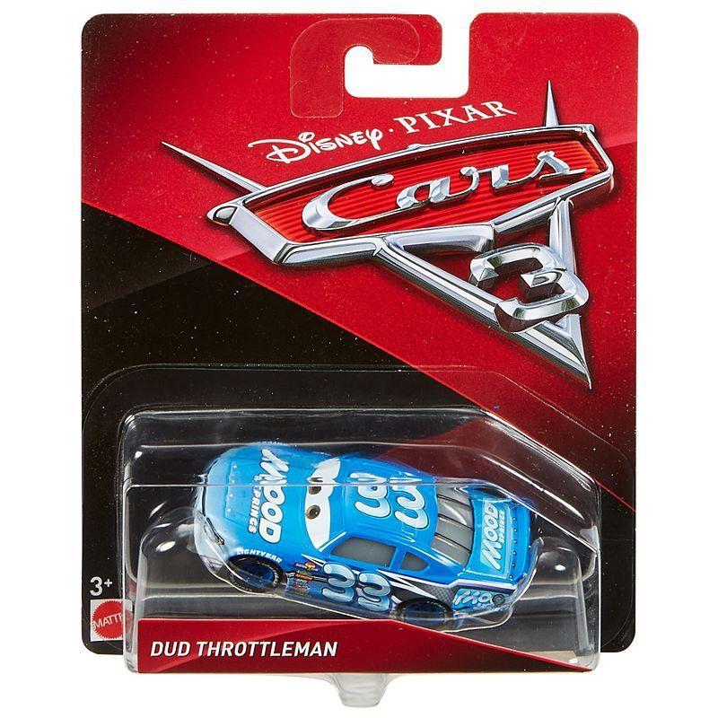 DUD Throttleman fra Cars 3. En sej, hurtig racerbil.