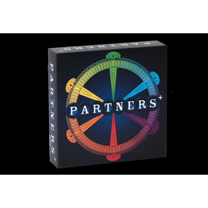 Partners + er et efterf�lgende spil til partners.  Partners + er et spil op til 6 personer. Spil 2-3 hold  med henholdsvis 2-3 personer p� holdene. 6 forskellige  farver.