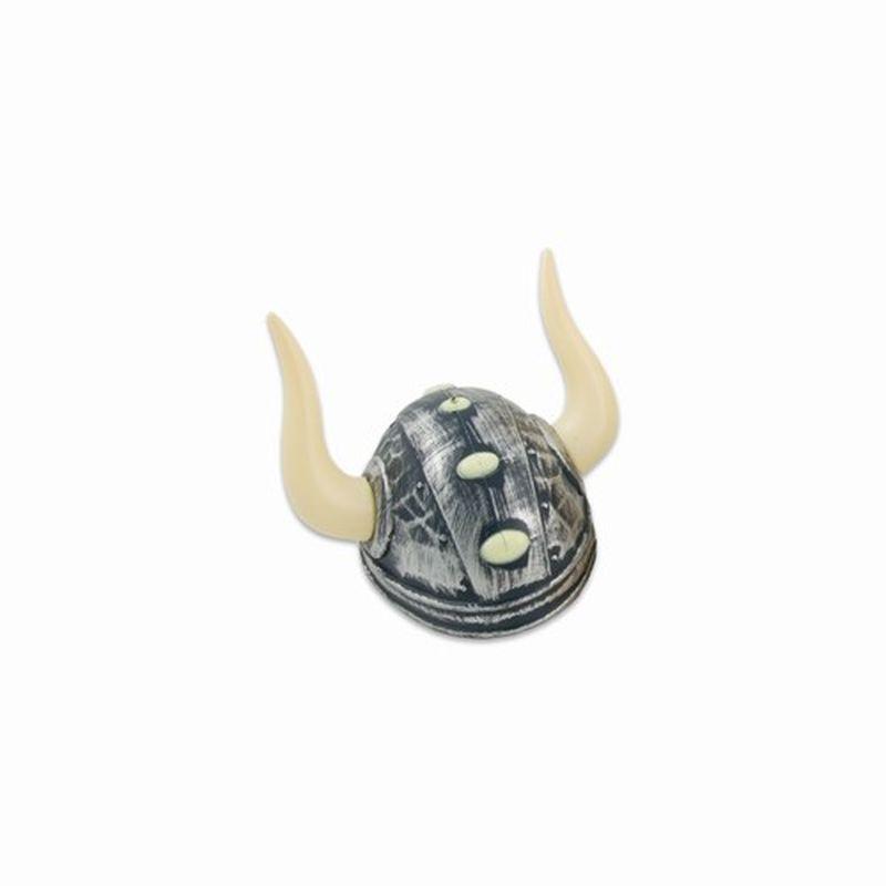 Vikingehjelm i plastik med naturlig metallignende overflade. Fin til udkl�dning, rollelege og fastelavn. Passer de fleste.