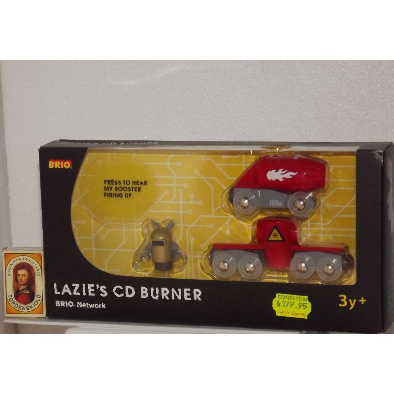 Lazies CD burner er fra Brios Networks serie hvor man kan lære noget omkring hvordan en computer virker.Passer til de fleste træ togbaner.