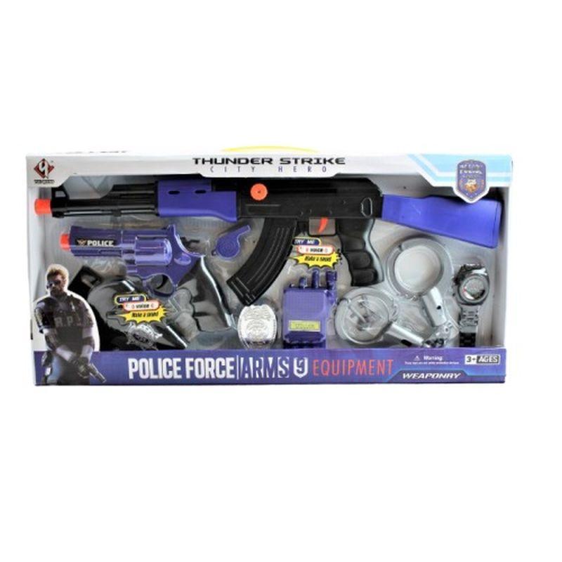 Politi s�t med forskellige dele som du kan lege med inde eller ude med vennerne  eller bare alene tid alt er tilladt