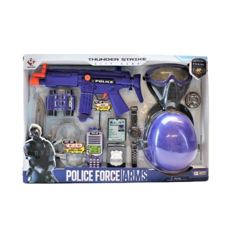 Flot politi s�t med mange fine dele til din egen lille politi station s� inviterer vennerne hjem til leg