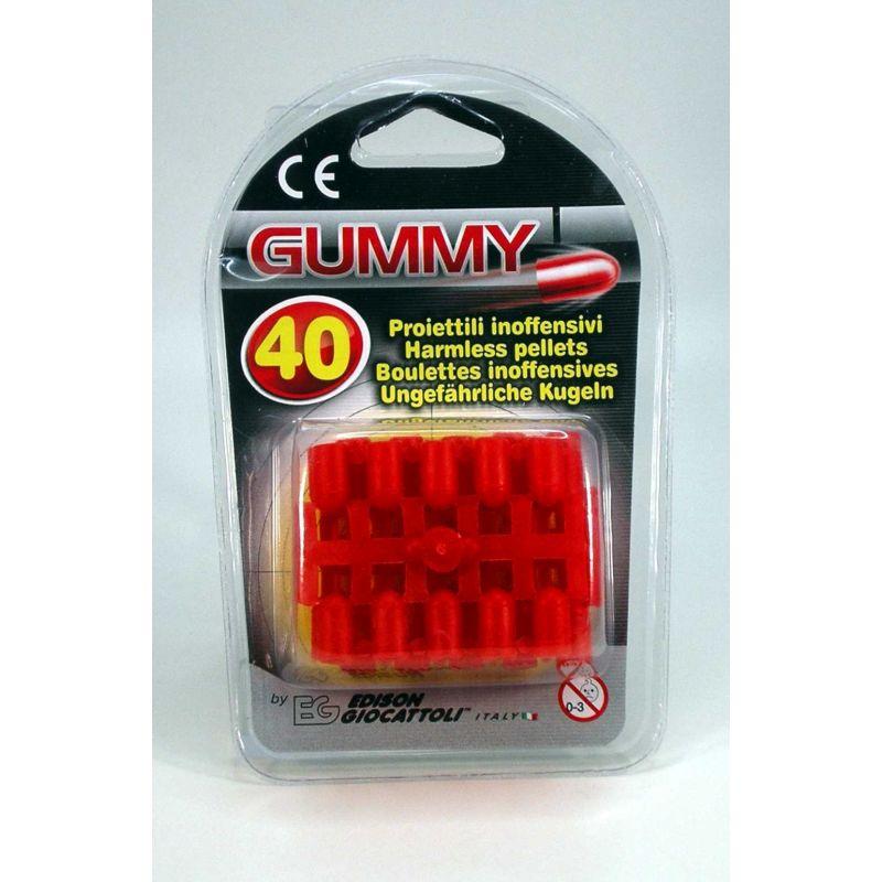 Gummikugler til pistol. Kugler lavet i bl�d gummi.40 skud  Kan bruges til leg. Politi og r�ver. Kan bruges b�de ude  og inde.