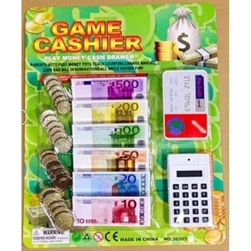 Legepenge som man kan bruge i legen, hvis man leger købmand,  politi eller en anden leg hvor der vil være en udveksling af  penge.