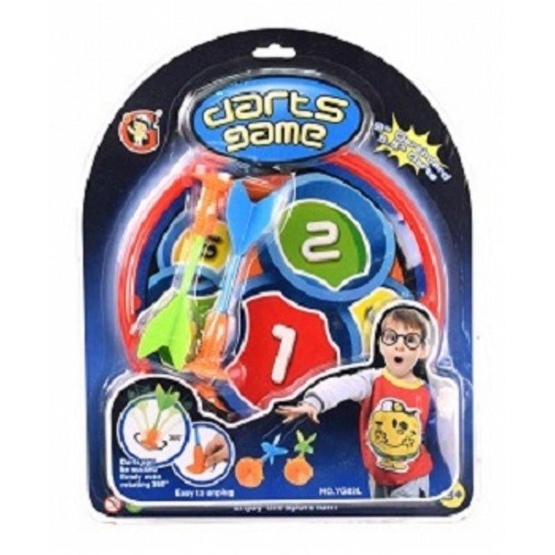 Børne dart.  Pilene med sugekop så et sikkert spil for børnene så ingen kommer til skade med det lille sæt