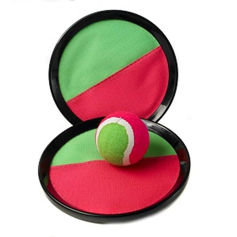 Kaste bolden og grib den. Ketcher/ bat med snap og bold.  2 stk bat og 1 bold. Kan bruges i haven, ved stranden og  på camping. Nemt at tage med på tur.