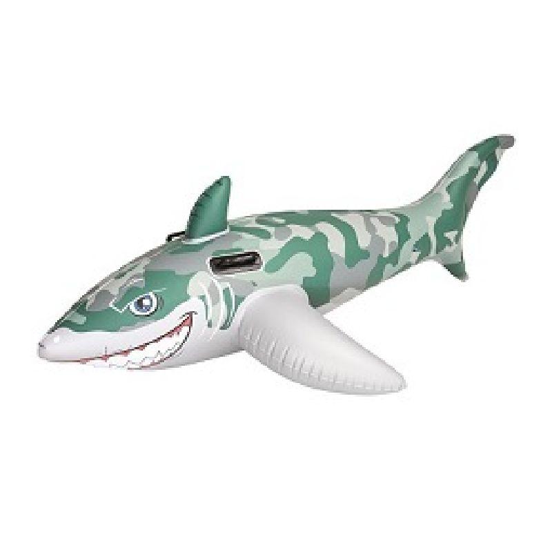 Hvis du har denne haj med i poolen skal der nok være nogle der bliver bange.