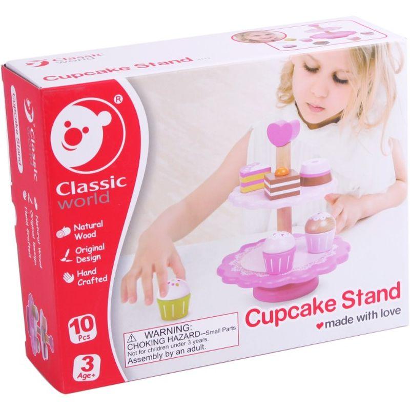Så er cupcake starnd i træ til til dem der drømme at bliver  bager. Der er forskellig dele med i pakker så du kan bruge den  i butik til udstille eller i din butik.