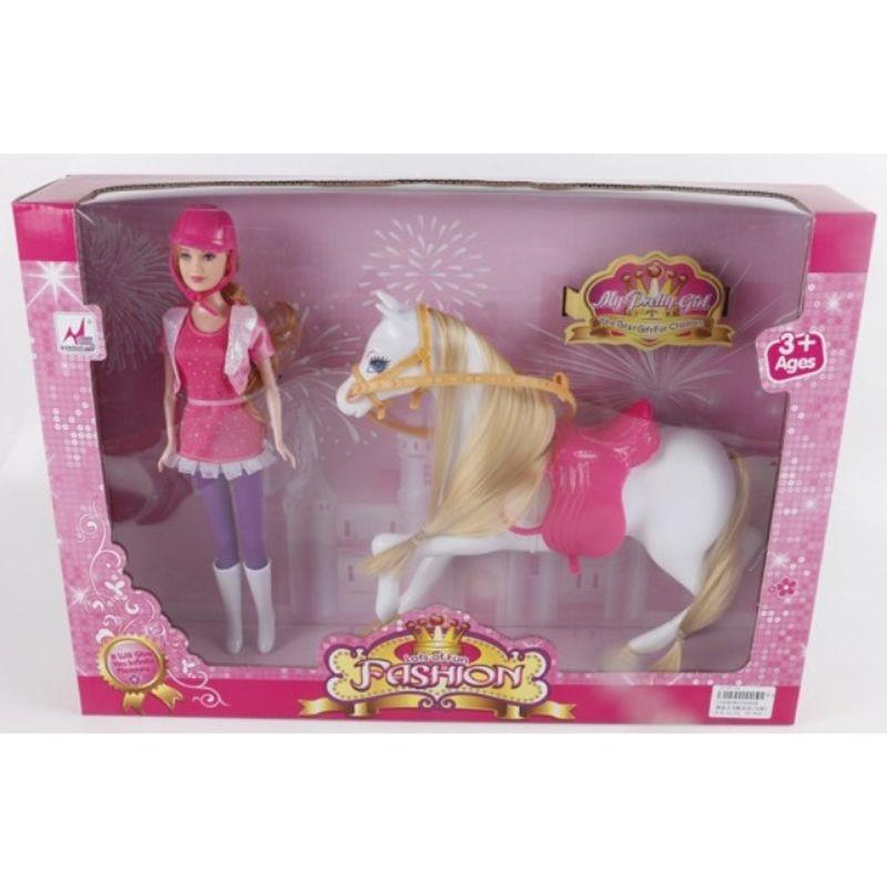 Så kan du tage din dukke ud på en ridetur. Dukken passer tøj  og udstyr med andre 29 cm mannekigdukker.