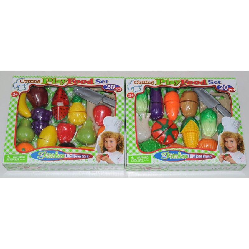 Frugter med velko giver mange timeres leg.<br> Sætte inderholder både frugter og kniv.