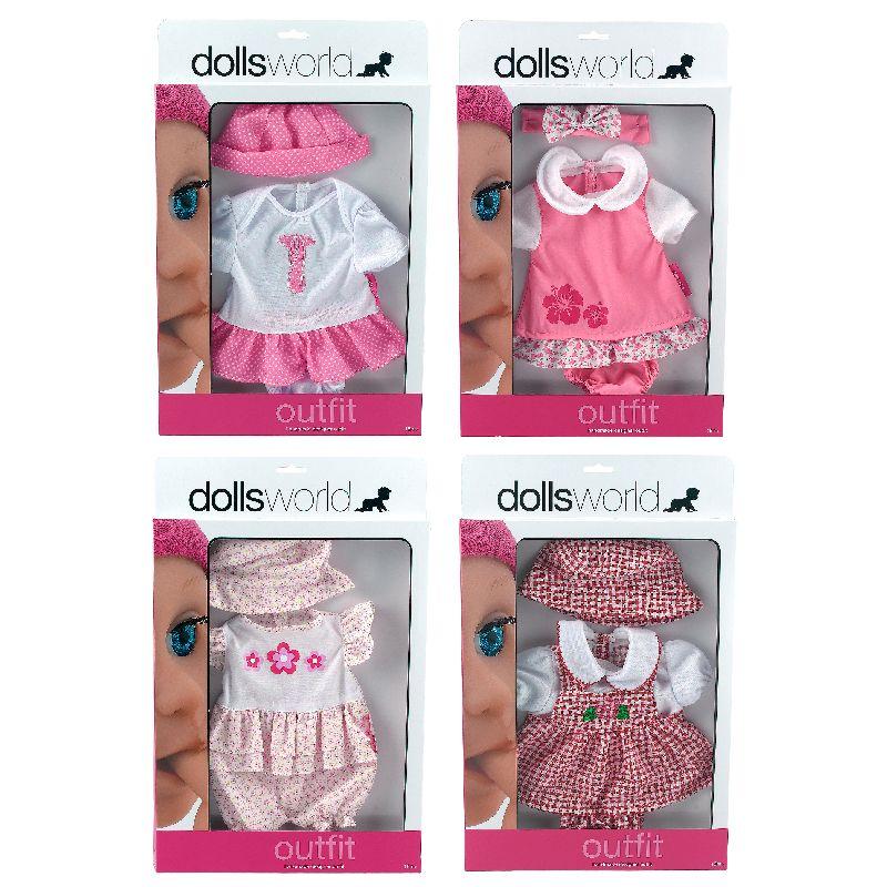 Dukketøjet passer til dukker op til 46 cm i længde som  f.eks. Baby Born.Der findes flere sæt tøj