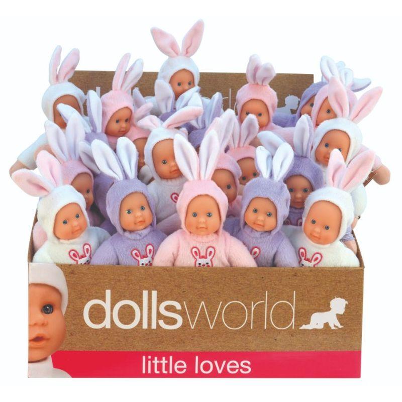 Få din egen lille Bunny at lege med,putte med eller som bare følger dig hvor end du er fås i 3 dejlige farver hvis ,lyserød eller lilla og er 18 cm