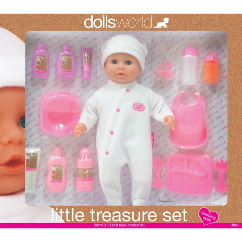 Dolls World er en serie, hvor du kan få forskellig slags dukke  med både forskellig tilbehør og tøj. Den her Dolle er Med alt  der hører til dukken når man skal bade og made. Pigen der  gerne vil være mor.
