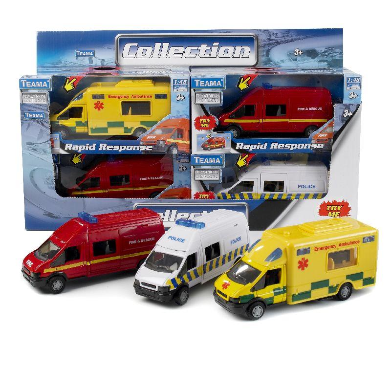 Nå du leger med dine biler skal du selvfølgelig havde nogle udryknings køretøjer.<br> Vælg mellem politi, ambulances eller brandvæsen