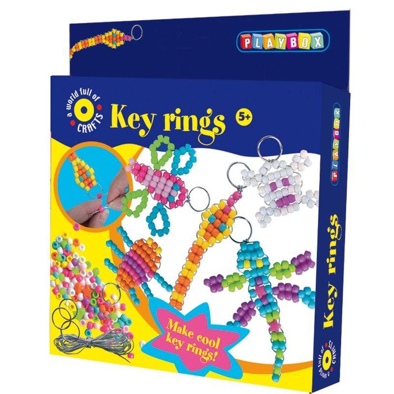 Lav dine egne personlige nøgleringe med dette fine sæt med mange dejlige klare farver f.eks til julegaver fødselsdags gaver eller bare til dig selv