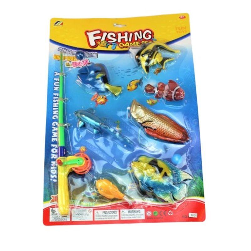 Se om du kan fange fiskene med den lille magnet der sidder for enden af fiskestangen du kan dyste med vennerne hvem der fanger flest af de store eller sm� fisk