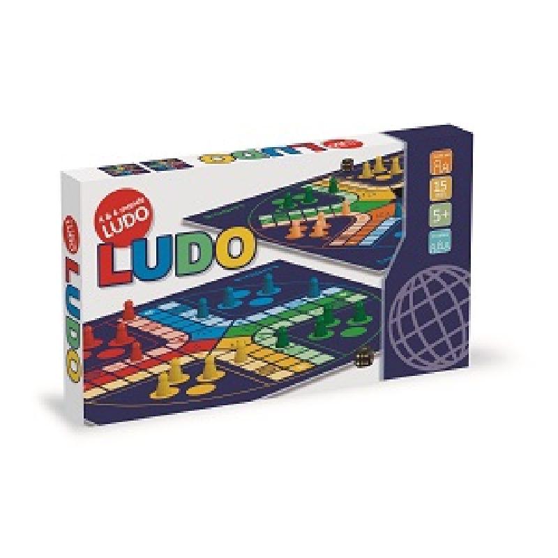 Spil ludo med familien eller venner. 4 forskellige  farver. Slå med terningen og ryk de antal felter  terningen viser. Se hvem der først får sine brikker hjem.