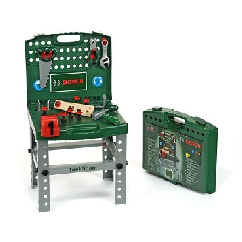 Kuffert som kan laves til værkstedsbord. Leg tømre med  sav og hammer. Skrue en skrue i et stykke træ. Kan bruges  til mange timers leg både ude og inde.