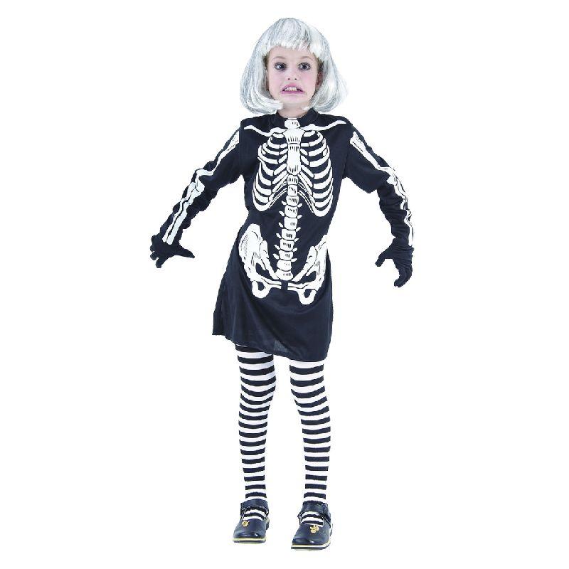 UUUHH, hvor kan du blive uhyggelig at se p�. Kjolen er i  sort og hvid og rigtig god til Fastelavn eller Halloween.