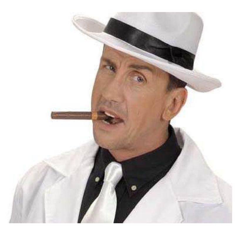 Naturtro 12 cm lang plastikcigar, som du kan bruge, n�r du skal kl�des ud som gangster, mafiaboss, forbryder, gammel mand eller til en 20er fest.
