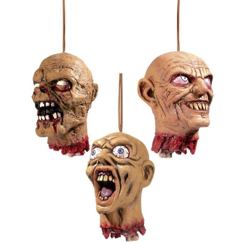 er du den der godt kan lide at skr�mme folk eller lave sjov s�  kan du bruge den her hovede til sjov og ballede. Det er  skr�mme hovede som er bl�d. Der er snor p� toppen s� du kan  h�nge den op