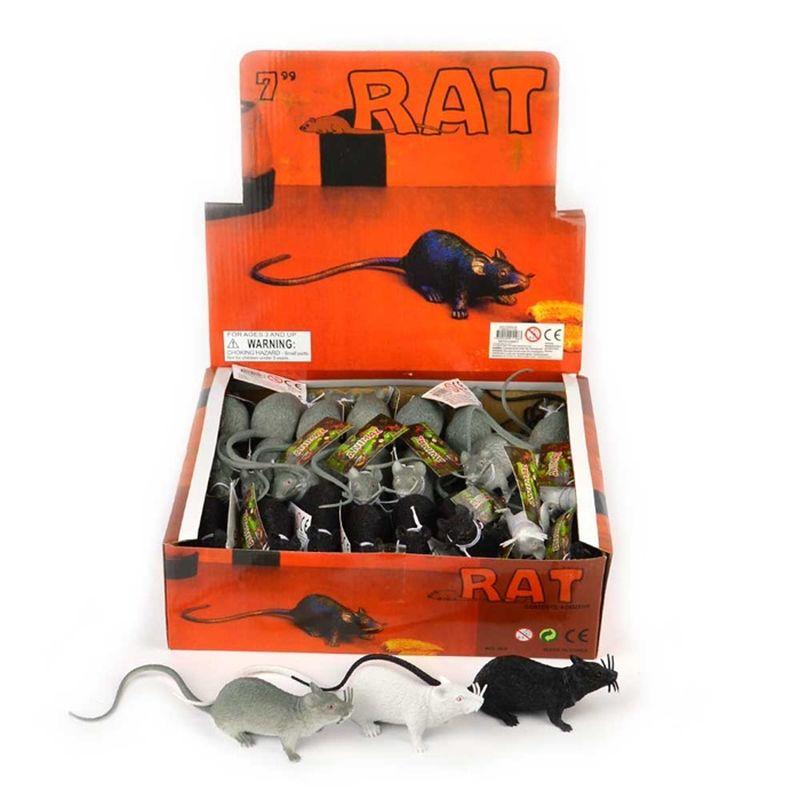 Gummi rotte i sort eller gr� kan bruges til diverse drillerier og pranks