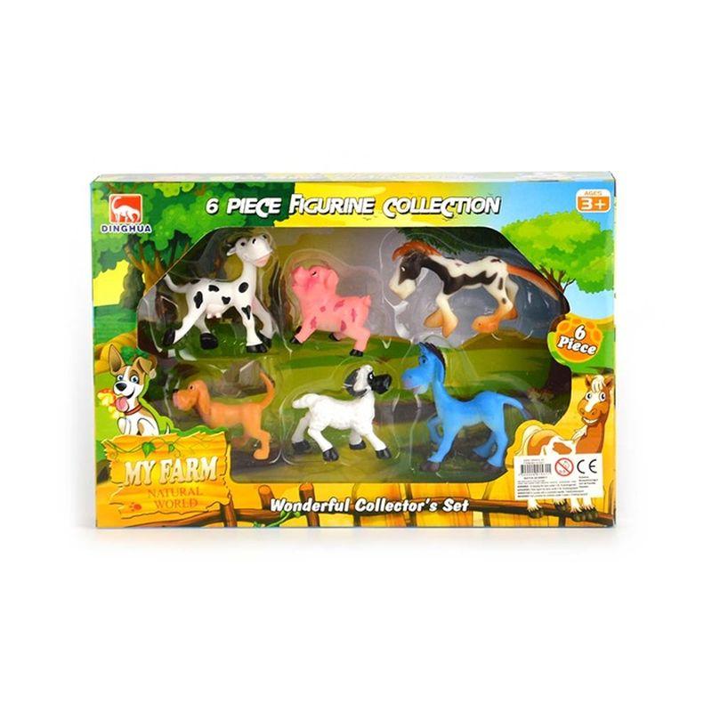 Så kan man komme igang med sin farm. I denne her pakke er der  6 forskellig slags dyr. Så det er bare at komme igang som  landmænd.