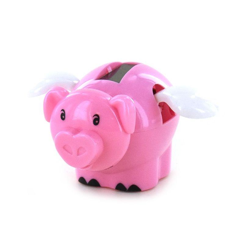 F� denne lille s�de gris  som danser n�r den kommer ud i solen, der er en lille solcelle p� ryggen af den