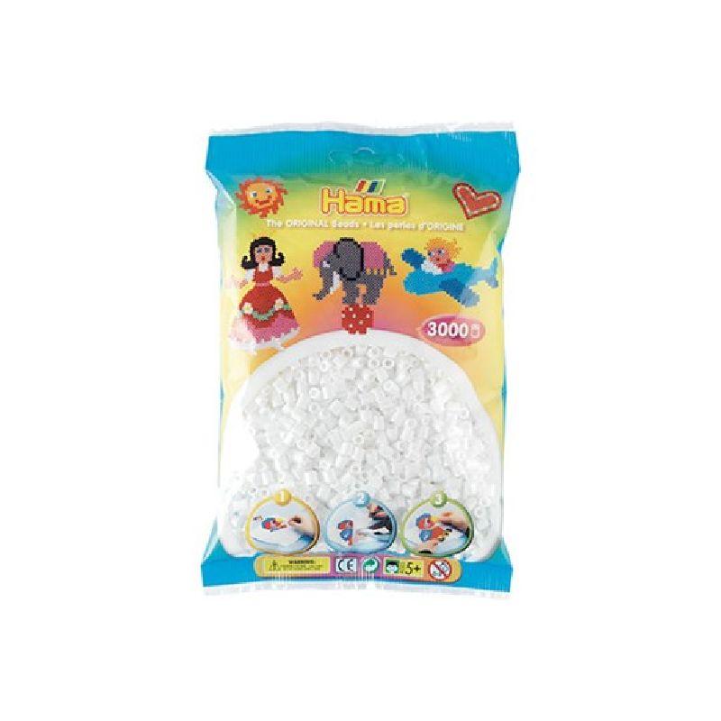 De hvide Hama midi perler er en af de meste brugte af Hama  midi perler.