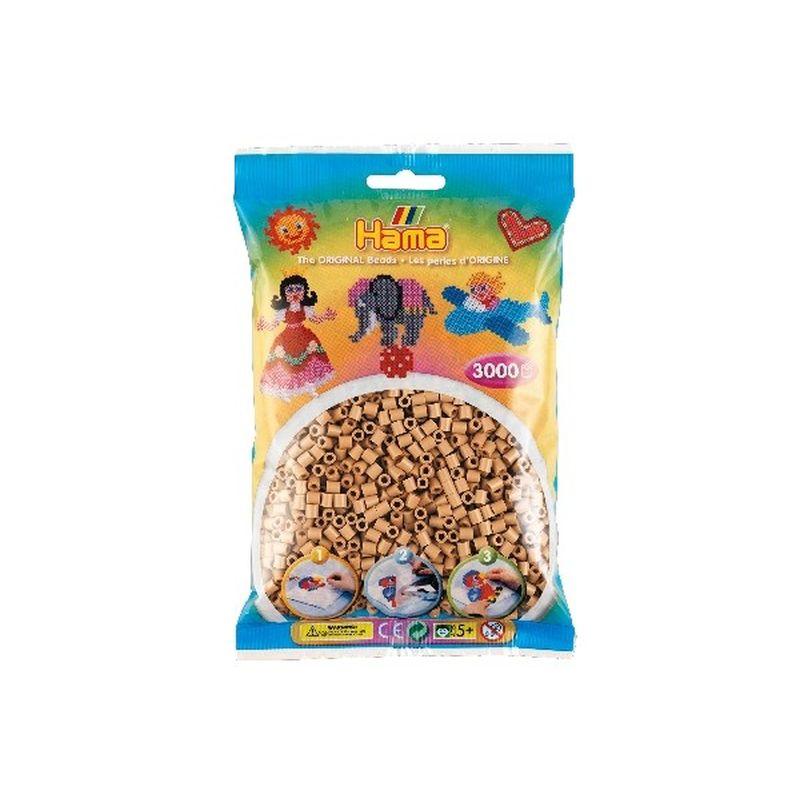 Hama perler farve tan nr. 75. Pose med 3000 perler. Str  midi kan bruges til hama plader midi
